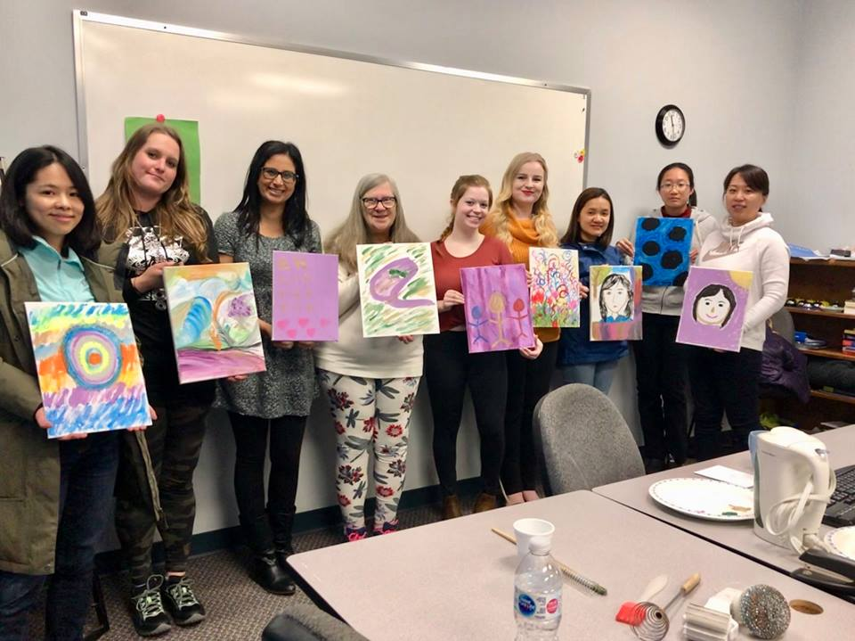 sprott shaw college nanaimo campus students early childhood education art therapy
