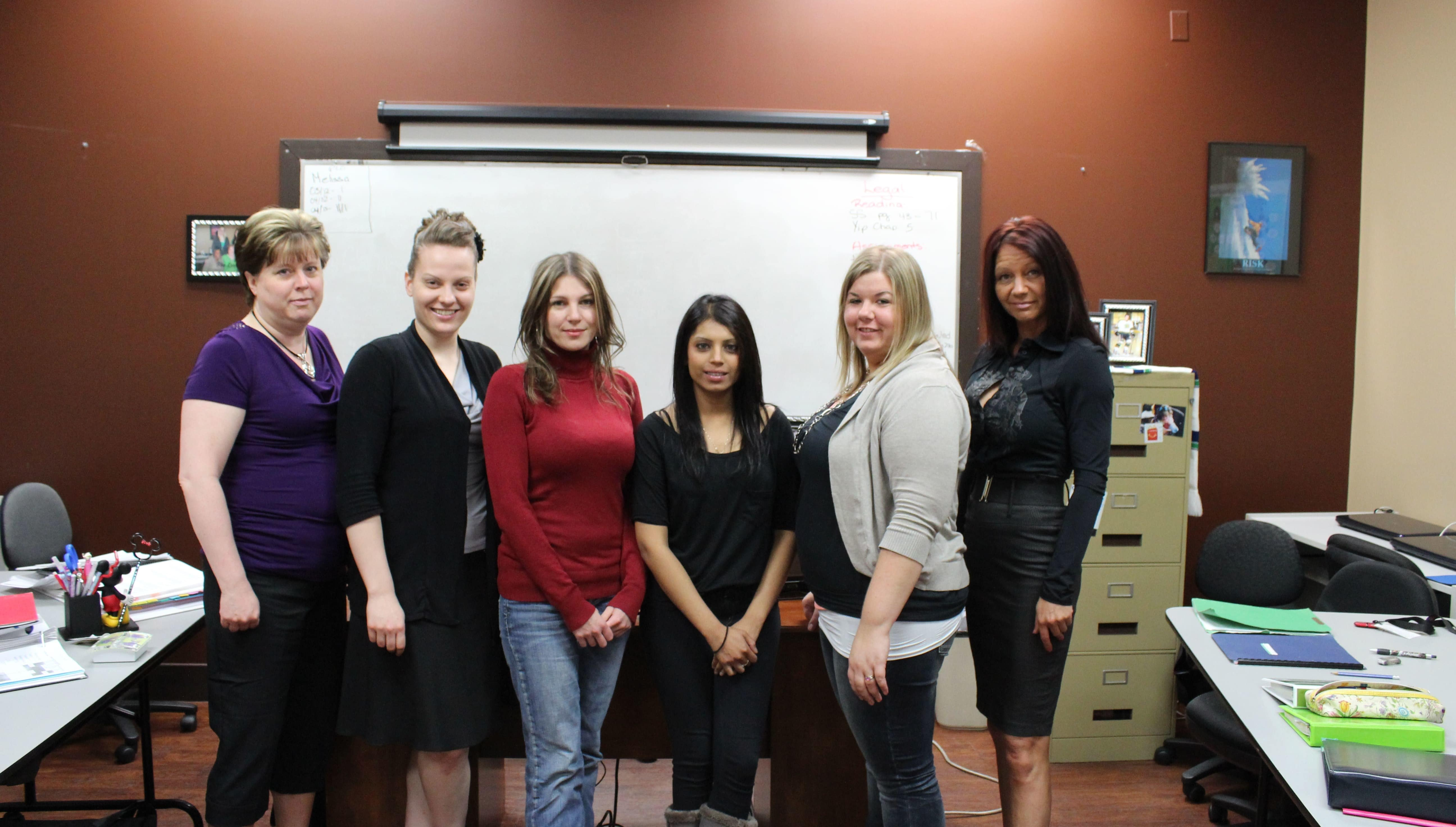 group of sprott shaw students standing together
