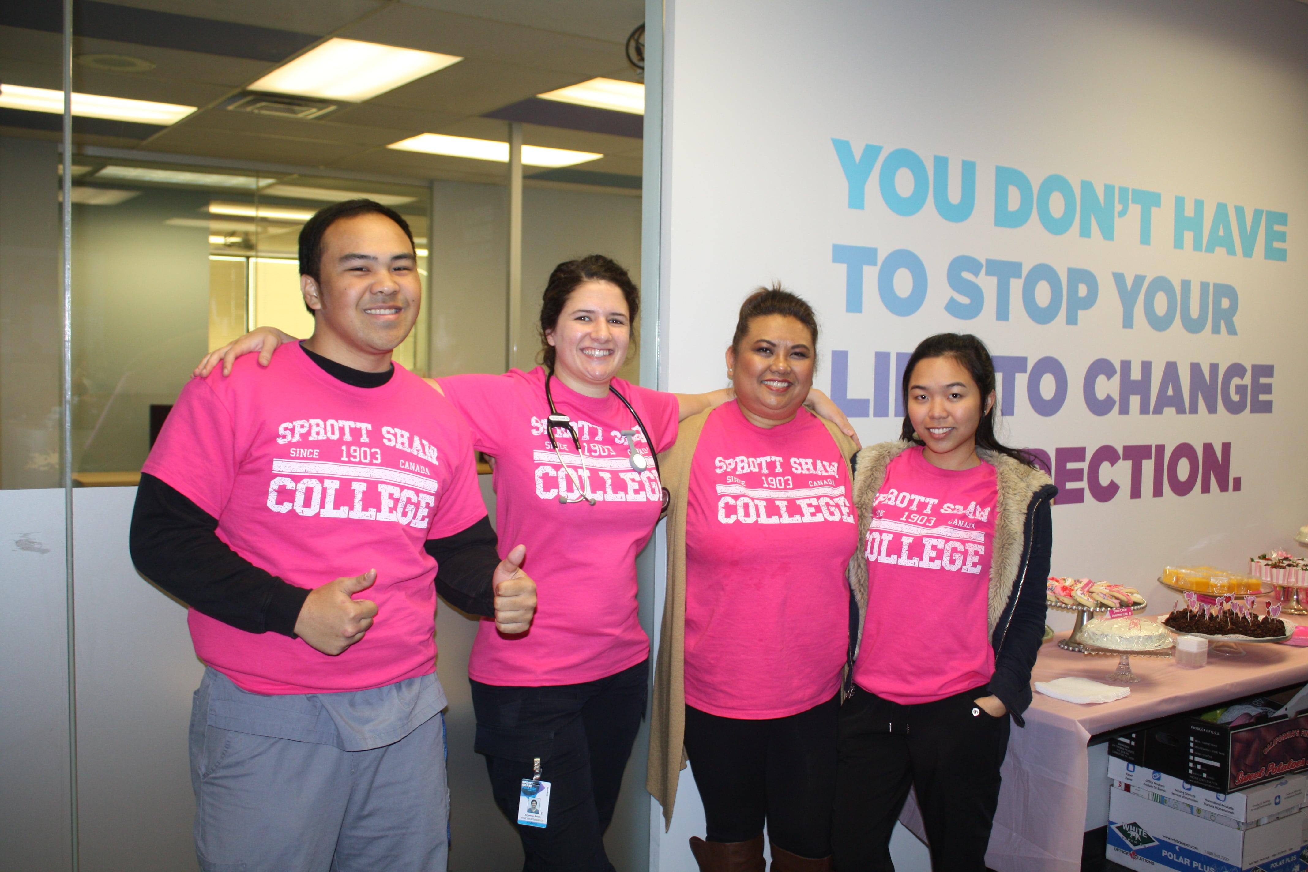 sprott shaw college new westminster campus anti bullying pink shirt day