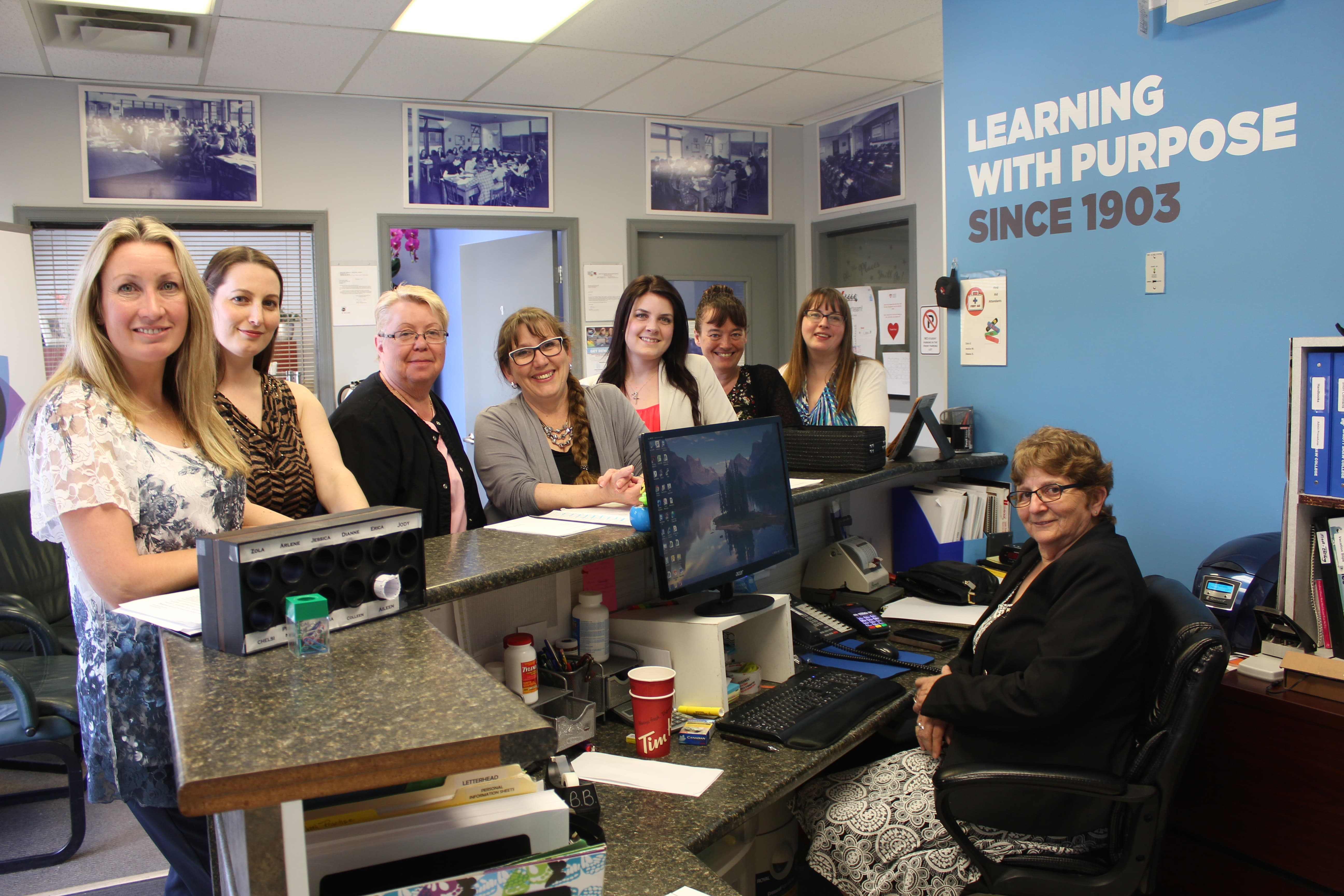 sprott shaw college penticton campus students and staff