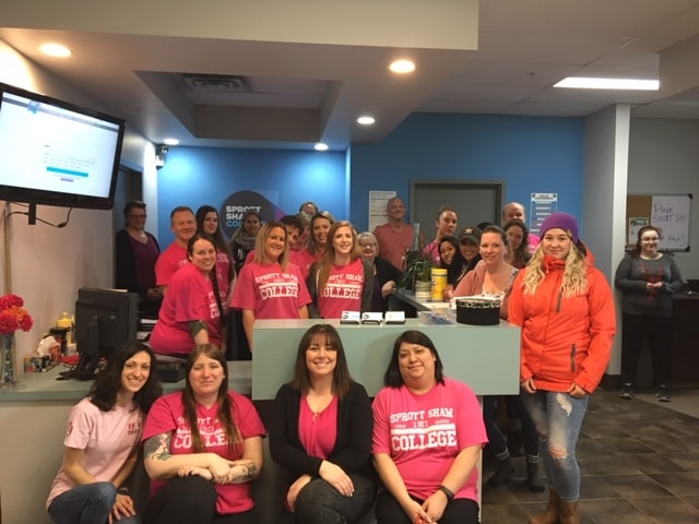 sprott shaw college kamloops campus anti bullying pink shirt day