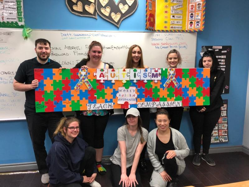 sprott shaw college maple ridge campus students world autism awareness day