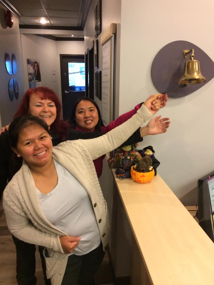 ring the bell, sprott shaw college graduate, sprott shaw grads with jobs