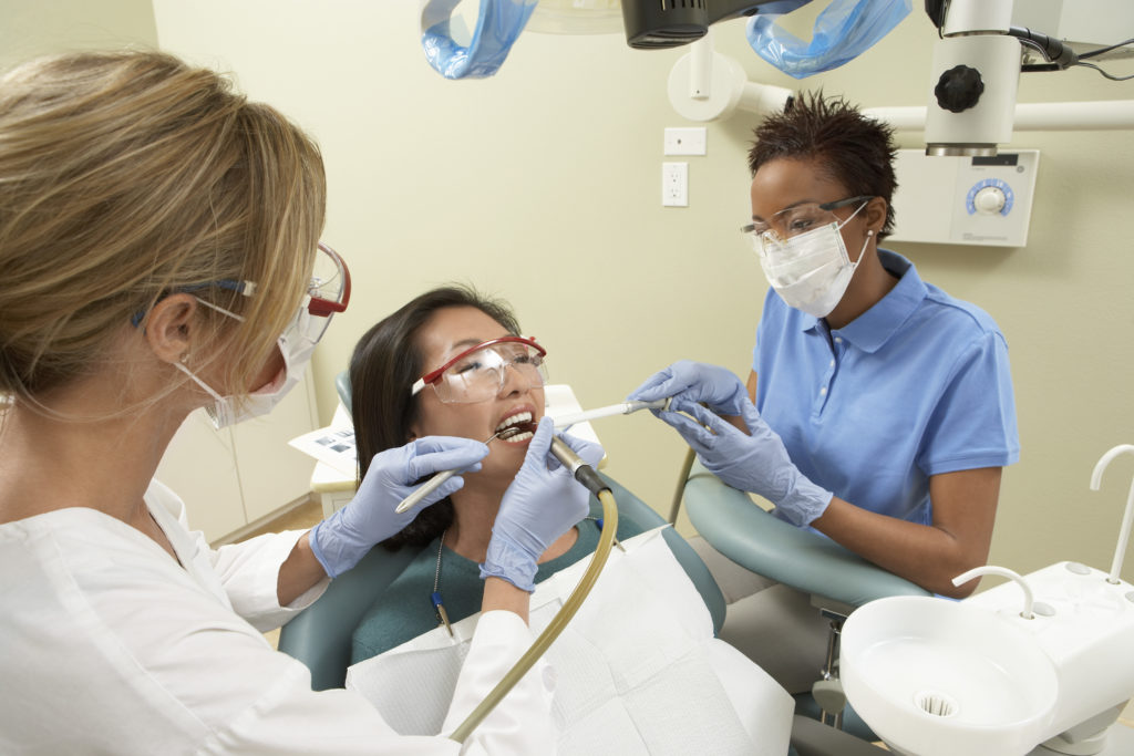 Woman Getting Dental Work Done