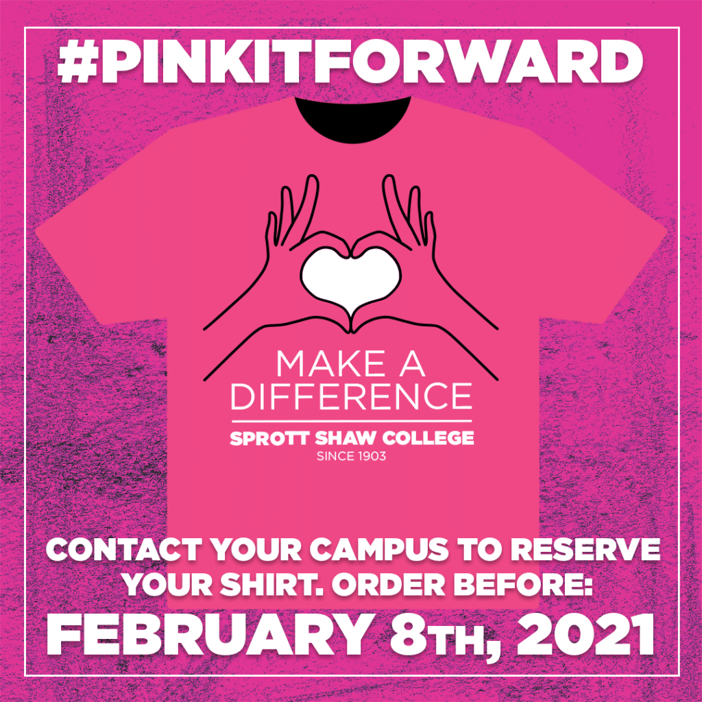 pink shirt day 2021 sprott shaw college