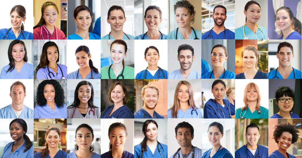 collage of licensed practical nurses for national nursing week and international nurses day
